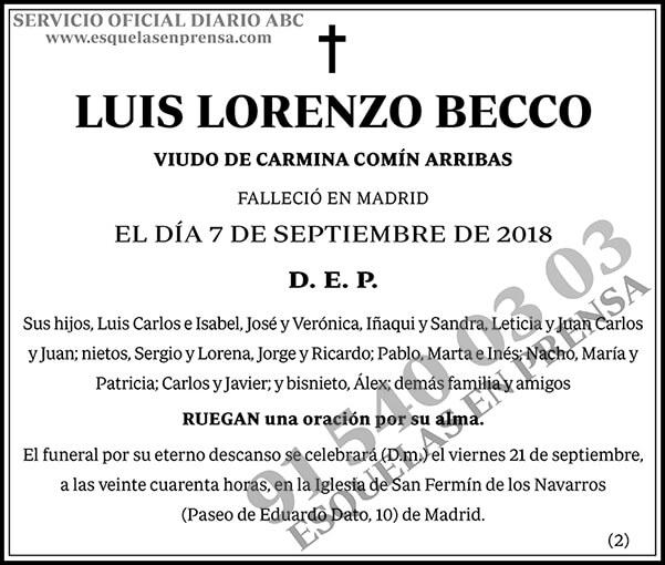Luis Lorenzo Becco
